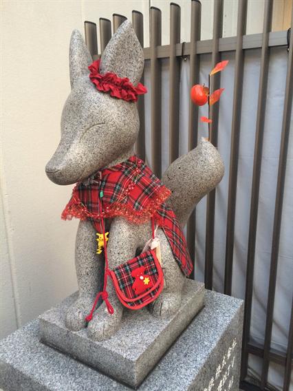 ②狐の道しるべ、穴守稲荷神社(東京都大田区羽田)